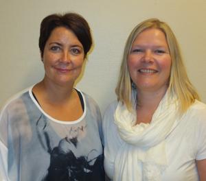 Liv-Grethe Kristoffersen Rajka og Nina Bjerketveit Ødegaard.