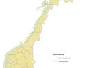 Kart over norske kommuner.