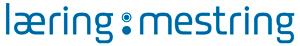 Illustrasjon, logo læring og mestring, blå på hvit