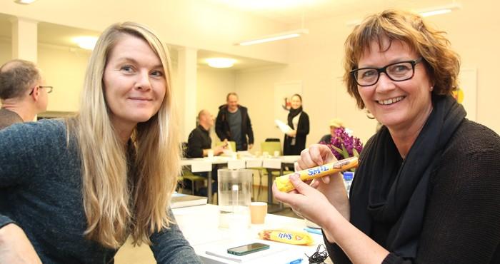 SMIL-samling Siw Bratli og Ellen Østberg. Foto: Gunder Christophersen, BarnsBeste.