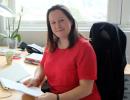 Mette Haaland-Øverby på kontoret