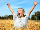 Gutt i hveteåker, bilde til helsepedagogikk UNN