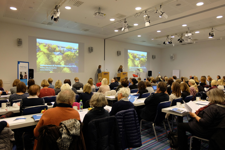 Fullsatt sal på forskerkonferansen i 2016