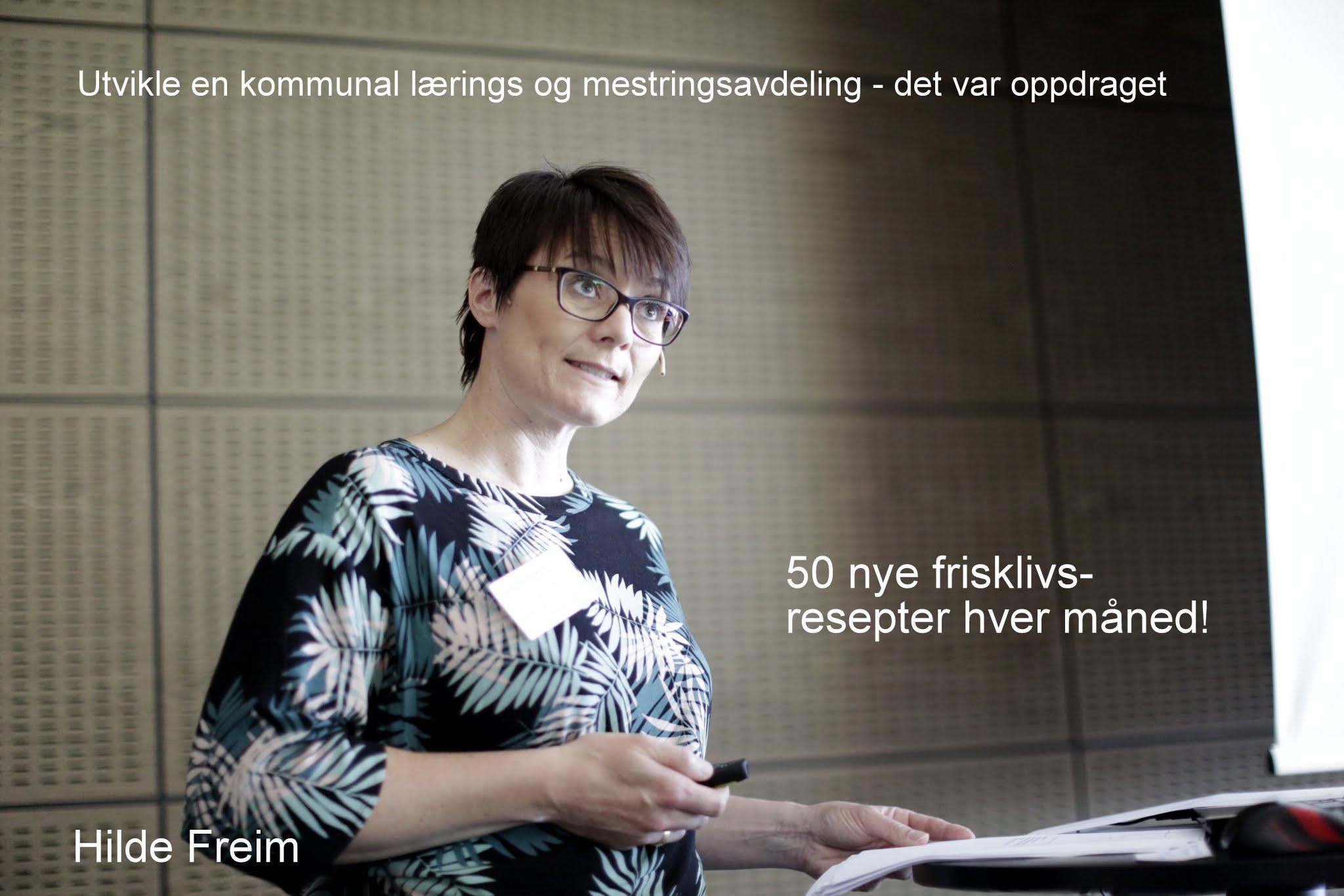Hilde Freim snakker om læring og mestring i Fredrikstad kommune