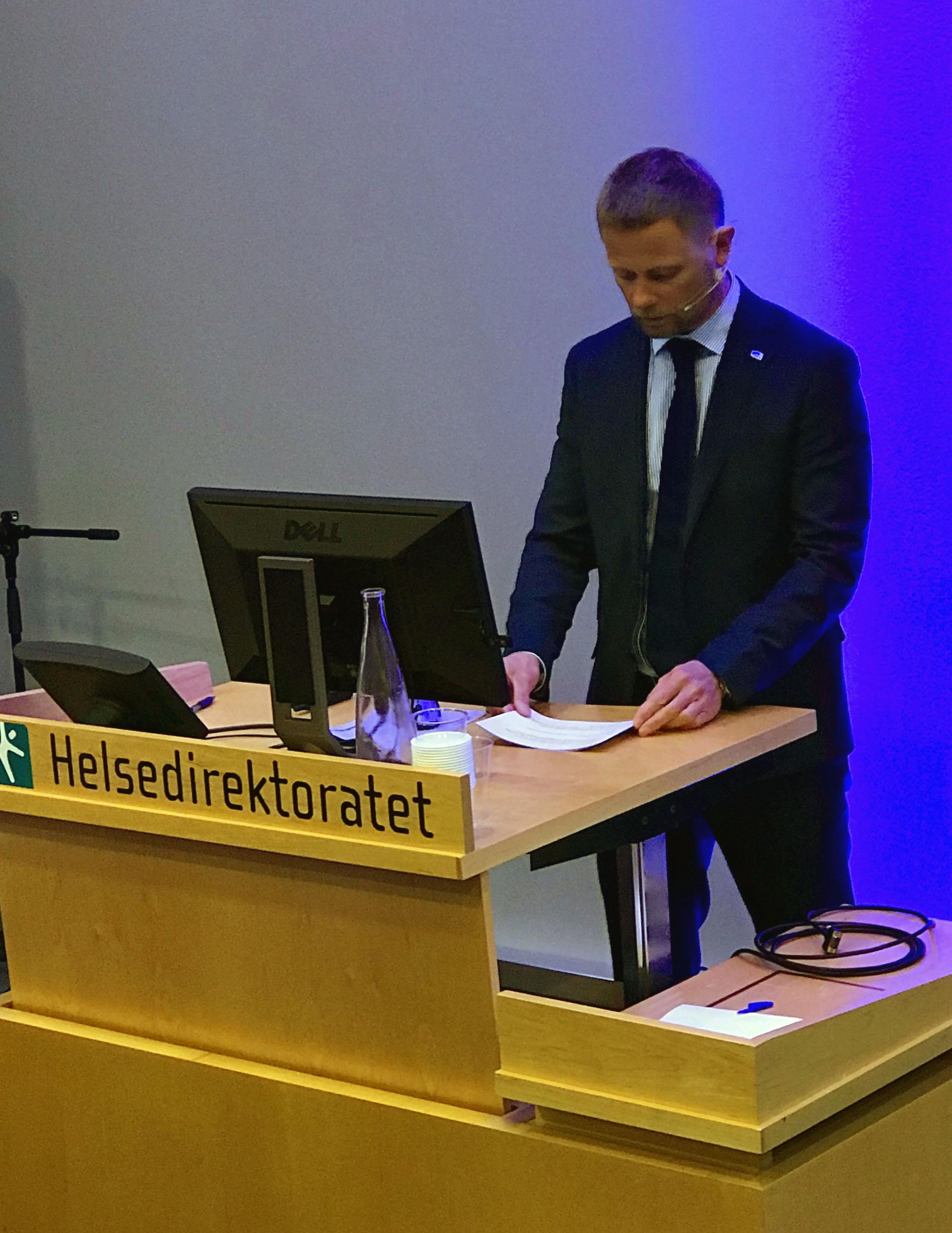 Bent Høie på talerstolen