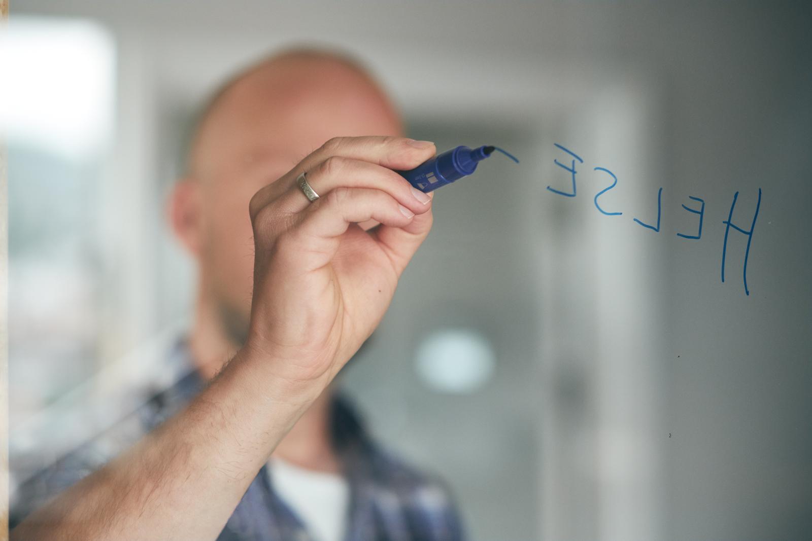 Begrepet helse skrive spå en gjennomsiktig vegg