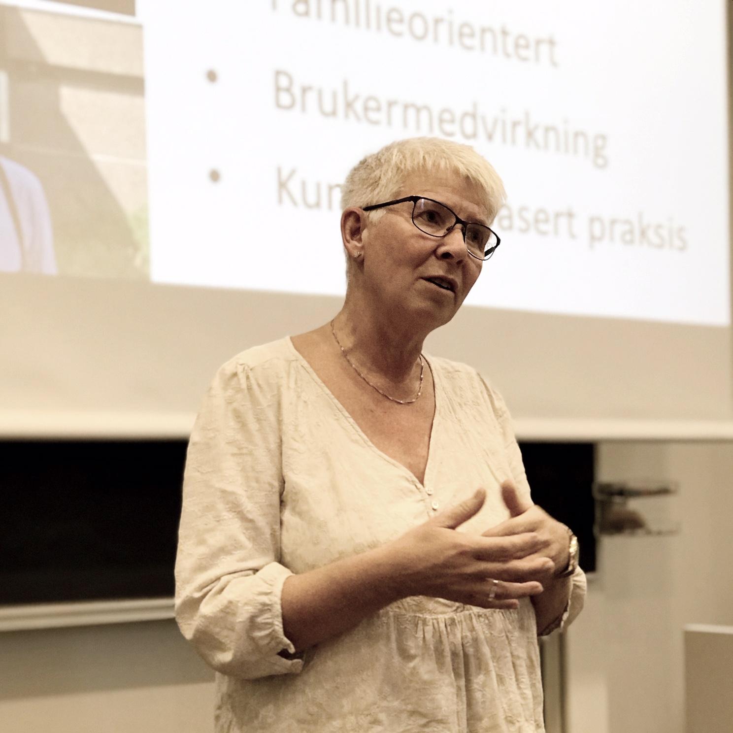 Lise Beate Hoxmark under workshopen