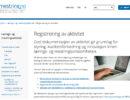 Ny side: Registrering av aktivitet